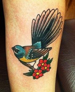 fantail bird tattoo