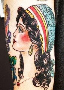 gypsy girl head tattoo