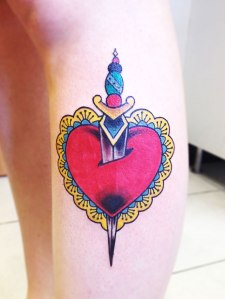 heart and dagger tattoo