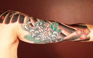 Japanese chrysanthemum tattoo