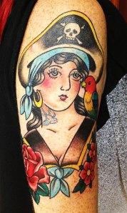 pirate girl tattoo