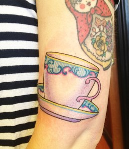 tea cup tattoo