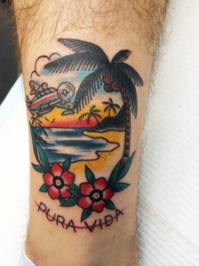 pura vida tropical tattoo