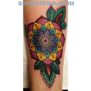 Geometric flower with cover up