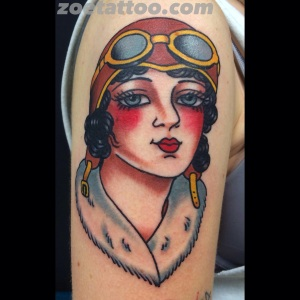 Pilot girl tattoo